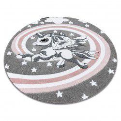 Teppich PETIT PONY Kreis grau
