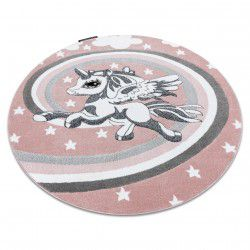 Carpet PETIT PONY circle pink