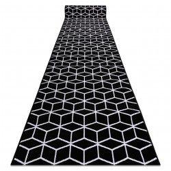 Килим Лущув BCF Cube ANNA 2959 чорний куб шестикутник