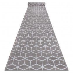 TAPIS DE COULOIR BCF ANNA Cube 2959 gris sześcian hexagon
