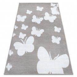 Килим BCF ANNA Butterfly 2650 Метелики сірий