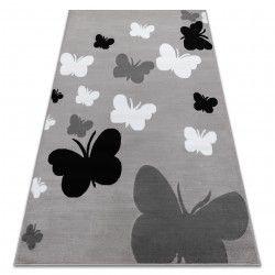 Carpet BCF ANNA Butterfly 2650 Butterflies grey / d. grey