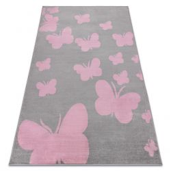Carpet BCF ANNA Butterfly 2650 Butterflies grey / pink