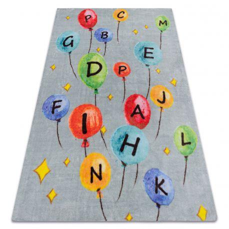 Koberec PLAY balónky písmena abeceda G3548-6 šedá
