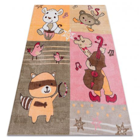 Carpet PLAY Animals music tunes G3610-1 pink / orange