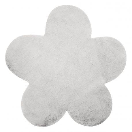 Dywan NEW DOLLY kwiatek G4372-2 srebrny IMITACJA FUTRA KRÓLIKA