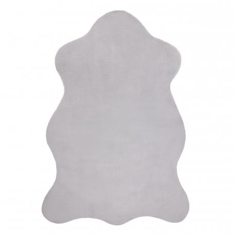 Covor NEW DOLLY piele G4337-3 argint IMITAREA RAPITULUI FUR