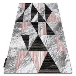 Alfombra ALTER Nano Triángulos rosado