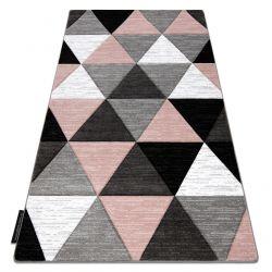 Ковер ALTER Rino трикутники розовый