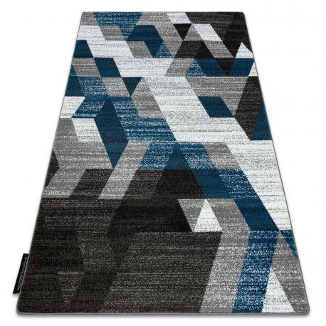 Carpet INTERO TECHNIC 3D Diamonds Triangles blue
