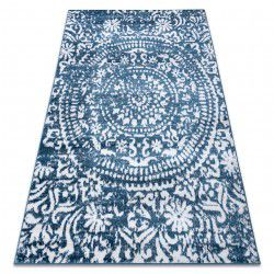 Carpet RETRO HE183 blue / cream Vintage