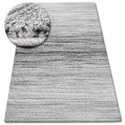 Kulatý koberec SHADOW 8622 bílý / černý