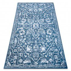 Carpet RETRO HE184 blue / cream Vintage