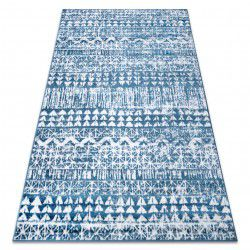 Carpet RETRO HE187 blue / cream Vintage