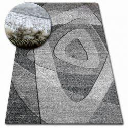 Kulatý koberec SHADOW 8594 černá / světle šedá