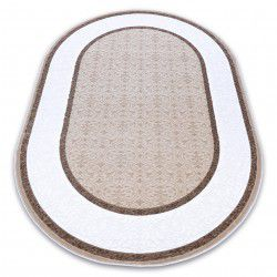 Teppich ACRYL DIZAYN Oval 141 elfenbein / dunkelbeige