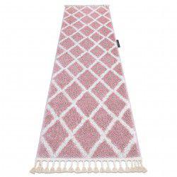 Carpet, Runner BERBER TROIK pink - for the kitchen, corridor & hallway