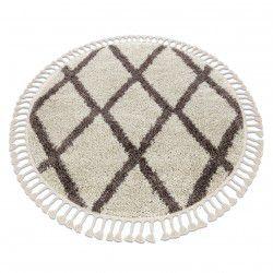 Tappeto BERBER TROIK cerchio crema Frange berbero marocchino shaggy