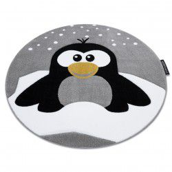 Carpet PETIT PENGUIN SNOW circle grey