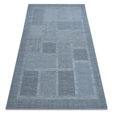 Carpet SISAL FORT 36209535 blue squares frame