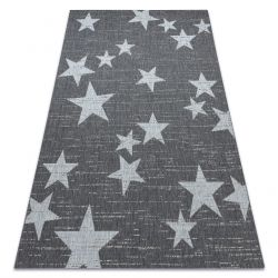 Tapis SIZAL FLAT 48699392 Étoiles blanc gris