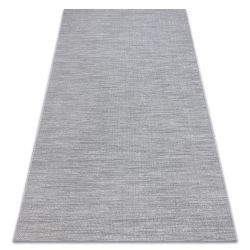 Tapete SIZAL FORT 36203053 cinzento uniforme de uma cor lisa