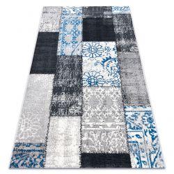 Tappeto Vintage 22218053 griggio / blu patchwork