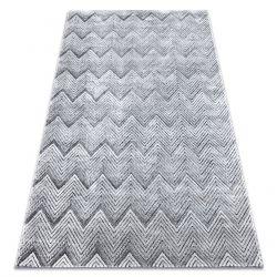 Tappeto Structural SIERRA G5010 tessuto piatto grigio - geometrico, ZIGZAG