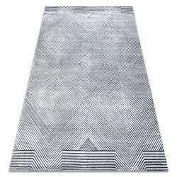 Килим Structural SIERRA G5012 плоский тканий сірий - геометричні, алмази