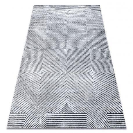 Килим Structural SIERRA G5012 плоски тъкани сив - геометричен, диаманти