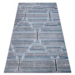 Carpet Structural SIERRA G5018 Flat woven blue - strips, diamonds