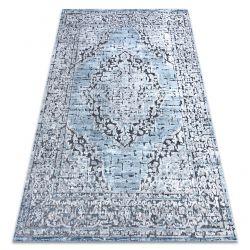 Koberec Structural SIERRA G8076 ploché tkané modrý / šedá - růžice