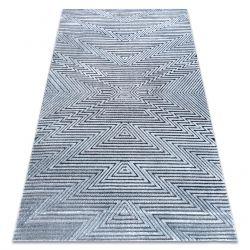 Килим Structural SIERRA G5013 плоски тъкани син - зигзаг, етнически