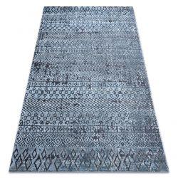 Tapis Structural SIERRA G6042 tissé à plat bleu - géométrique, ethnique