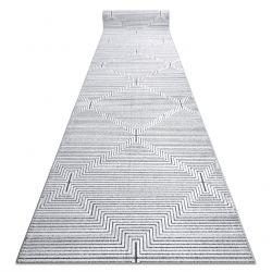 Tapis de coluoir Structural SIERRA G5018 tissé à plat gris - bandes, diamants