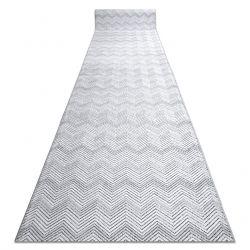 SIERRA futó szőnyeg Structural G5010 lapos szövött szürke geometriai, Cikcakk