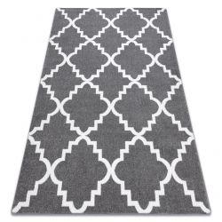 Tappeto SKETCH - F343 grigio/bianco marocco trifoglio trellis