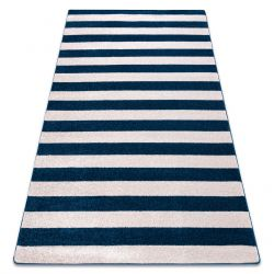 Tapis SKETCH - F758 bleu et blanc - Rayures