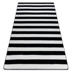 Килим SKETCH – F758 черно/бяло райета