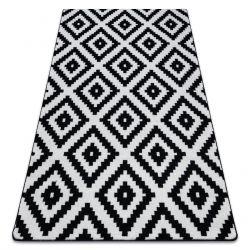 Koberec SKETCH - F998 bílá/černá - čtverce Ruta