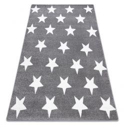 Tapete SKETCH - FA68 cinzento/branco - Estrelas Estrelinhas