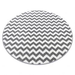 Tappeto SKETCH cerchio - F561 grigio/bianco - Zigzag