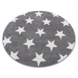 Koberec SKETCH kruh - FA68 šedá/bílá - Hvězda