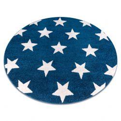 Tappeto SKETCH cerchio - FA68 blu/bianco - Stelline Stelle
