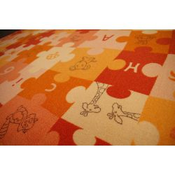 Килим детски пъзели оранжево