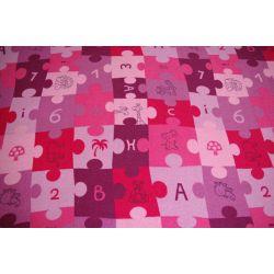 Covor copilăresc Puzzle violet