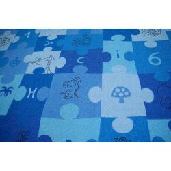 Teppich PUZZLE blau