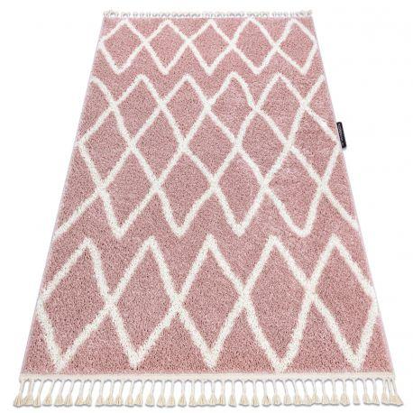 Carpet BERBER BENI pink Fringe Berber Moroccan shaggy