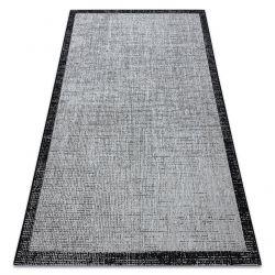 Fonott sizal floorlux szőnyeg 20401 Keret ezüst / fekete