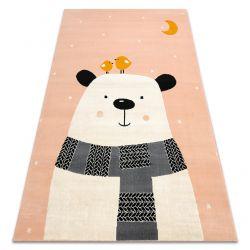 Carpet PASTEL 18422018 - BEAR pink / cream